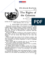 The Rights of the Colonists - Samual Adams 20 Nov 1772