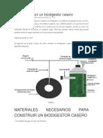 Cómo Construir Un Biodigestor Casero
