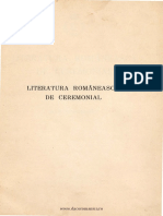 Literatura Romaneasca de Ceremonial