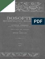 Dosoftei Mitropolitul Moldovei - Stefan Ciobanu