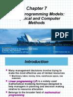 Linier Programming Models