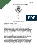 easter 2c 2016 pastoral letter