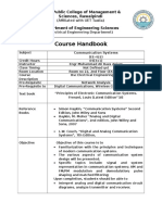 Course Outline Communication System