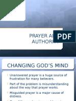 Prayer & Authority