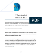 Nationals 2015 PF Topic Analysis