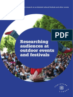 Researching Audiences at Outdoor Events