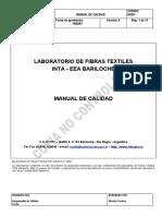 Manual de Calidad - Laboratorio de Fibras Textiles - INTA Bariloche. Argentina  (2007)