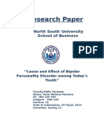 Cause and Effect of Bipolar Personality Disorder among Today's Youth