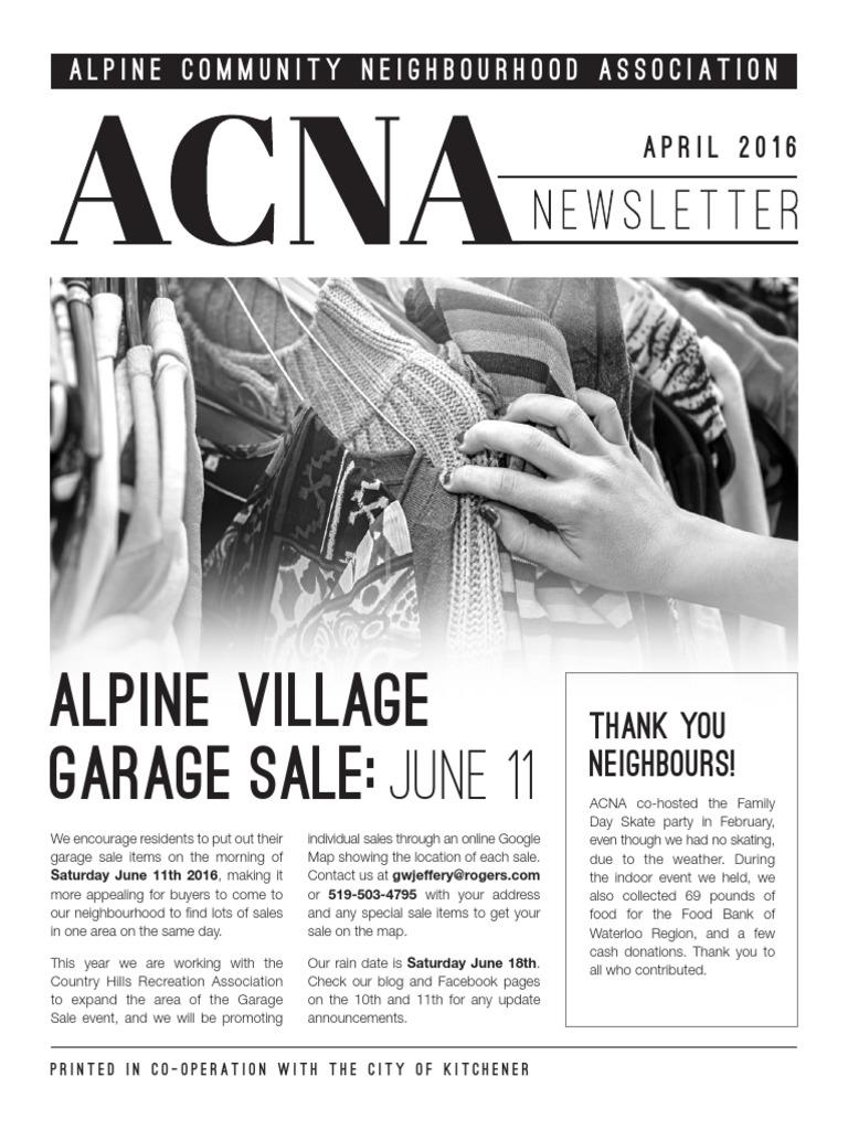 ACNA Newsletter April 2016 | Tomato | Vegetables