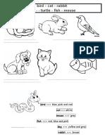 Animals - Write & Color - Worksheet.docx