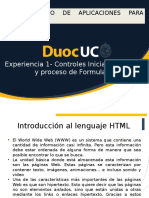Controles Iniciales HTML