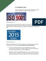 Nueva Iso 9001 Version 2015