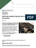 Grille Des Salaires Syntec Pour Les Etam Et Les Cadres 26313 Nl1sj8