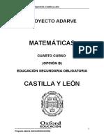 Matematicas 4 b Castilla y Leon Adarve