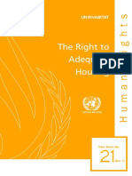 UN - the right to adequate housing