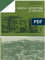 Dušan Grabrijan,Bosanska orijentalna arhitektura u Sarajevu