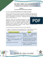 Respuestas Actividad de Aprendizaje Unidad 4-Registro y Documentacion de Un Sistema de Calidad .