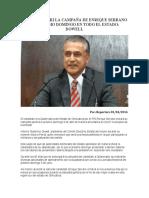 2016-04-01 INICIARÁ EL PRI LA CAMPAÑA DE ENRIQUE SERRANO EL PRÓXIMO DOMINGO EN TODO EL ESTADO- DOWELL