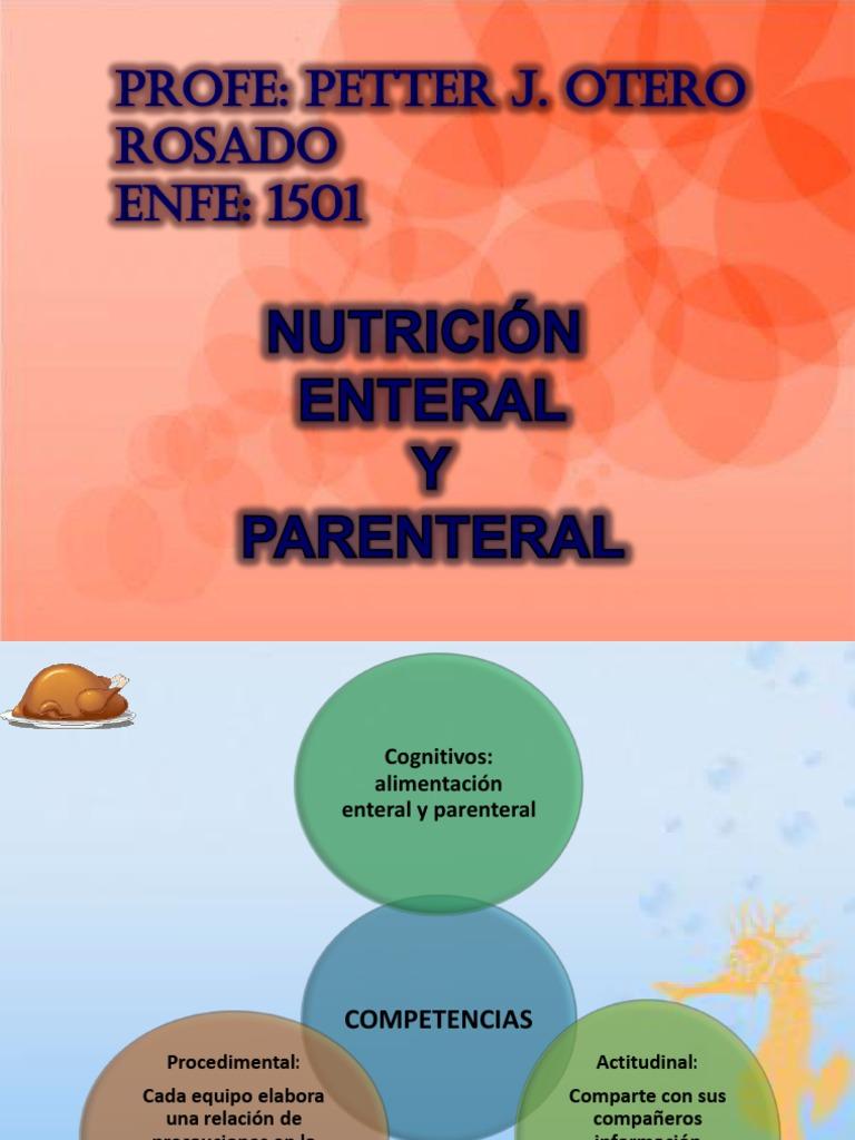 Alimentacion Enteral Y Parenteral Pdf