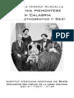 Giovenale VEGEZZI RUSCALLA. Colonia Piemontese in Calabria (1862)