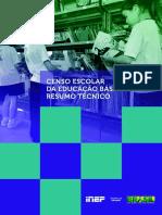 Resumo Tecnico Censo Educacao Basica 2013