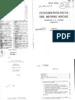 Schutz Alfred Fenomenologia Del Mundo Social