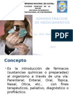 Administrac. de Medicamentos 2015