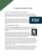 Iroquois Origins of Modern Toronto