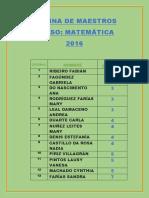 Nómina Maestros Curso Matemática Final