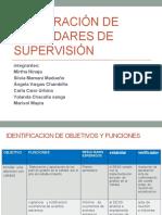 Elaboración de Estándares de Supervisión