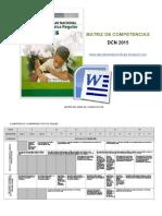 Matriz de Competencias y Capacidades Dcn 2015. (1)