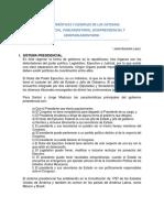 Características y Ejemplos de Los Sistemas Presidencial y Semipresidencial