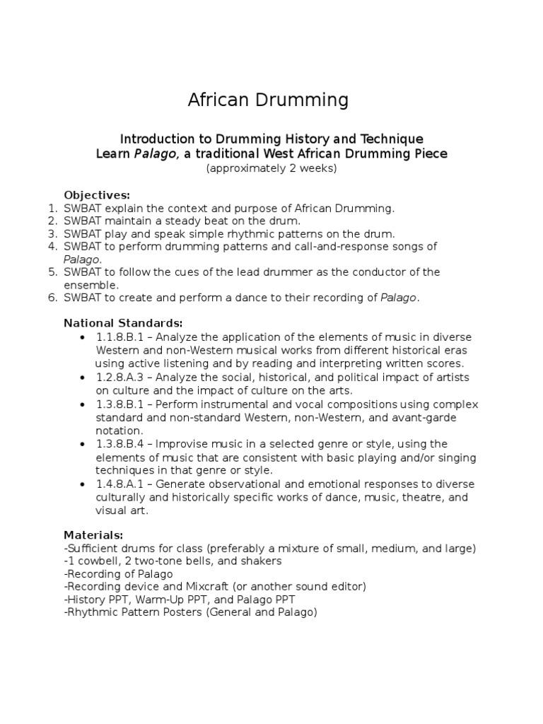 african drumming unit   Rhythm   Drum Kit