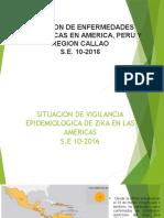 Situacion de Vigilancia Epidemiologica de Zika en Las