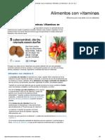 Alimentos Ricos en Vitaminas _ Alimentos Con Vitaminas C, B, A, D, E, K
