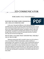 skilled communicator work sample