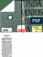 Manuel Garcia Morente. Fundamentos de Filosofia