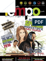 Abu Dhabi Tempo, March Publication focusing on culture, fun, lifestyle and more on Abu Dhabi