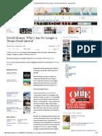 David Mamet_ Why I Am No Longer a 'Brain-Dead Liberal' _ Village Voice