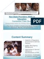 Non-State Providers (NSP) in Education Cambodian Case Study