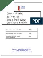 Manuale ricambi MC600