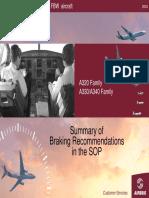 A320 Braking technique