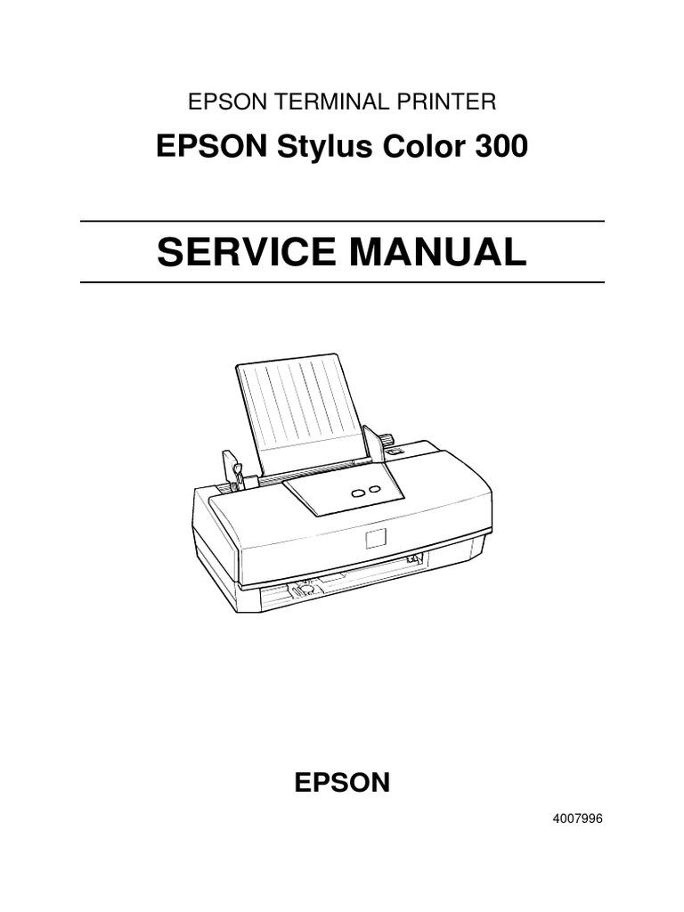 epson stylus color terminal printer service repair manual