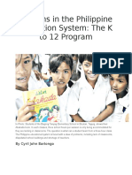 Reforms in the Philippine Education System.docx