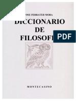 José Ferrater Mora - Diccionario Filosófico A