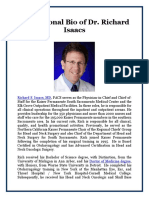 Professional Bio of Dr. Richard Isaacs