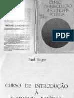 Curso de Introdução à Economia Politica - Paul Singer