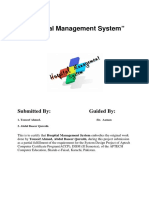 Project of the Month Hospital Management System