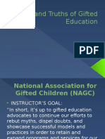 myths and truths of gifted education