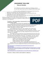 redg 605 assessment toolbox - kerekes